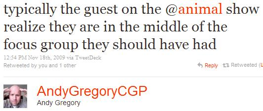 Twitter - Andy Gregory- typically the guest on the ...SMALL_5832467822-091118