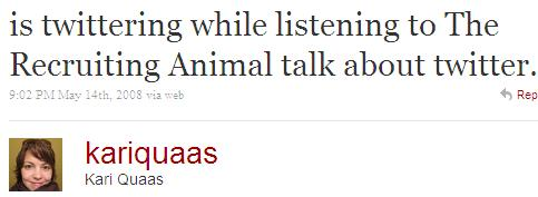 Twitter - Kari Quaas- is twittering while listen ..SMALL_811516805-080514