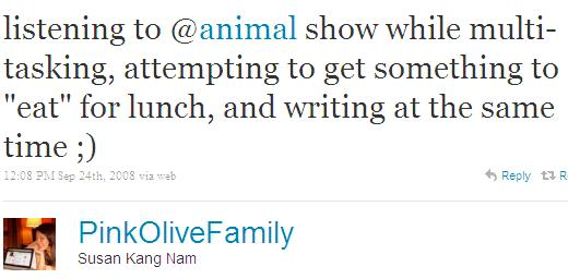 Twitter - Susan Kang Nam- listening to @animal show ...SMALL_933164916-080924