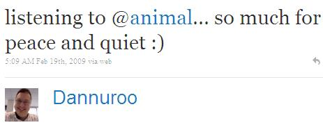 Twitter - Dannuroo- listening to @animal... so ...SMALL_1226162374-090219