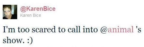 Twitter Karen Bice Too Scared
