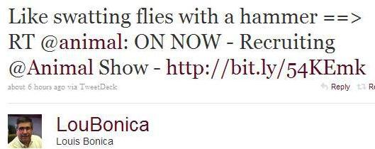 Twitter Lou Bonica Like Swatting Flies