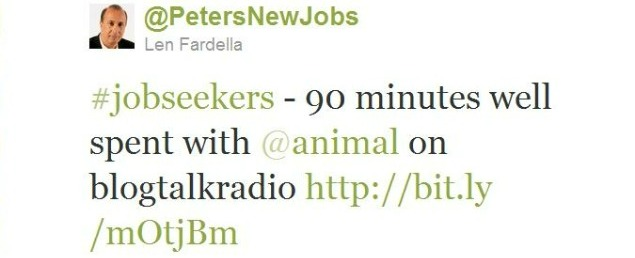 Twitter - @PetersNewJobs- #jobseekers - 90 minutes w ..._101322604517933056-110810-REDUCED.JPG