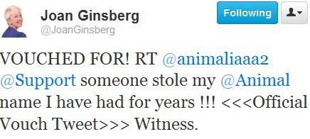 Name Twitter _ JoanGinsberg_ VOUCHED FOR! RT @animalia' - twitter_com_joanginsberg_status_216377947341324288