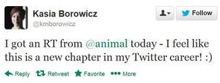 14 01 17 casia borowicz i got an RT from animal