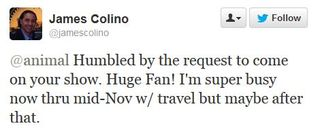 13 08 05 James Colino big fan of the show