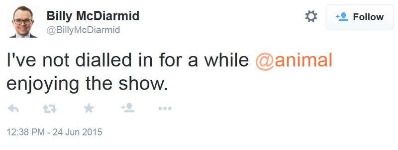 15 06 24 billy mcdiarmid - enjoying the show