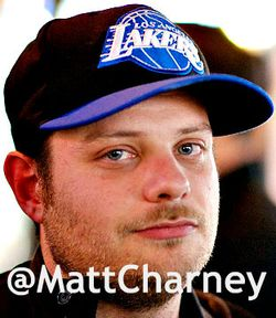 Matt charney Lakers hat colour