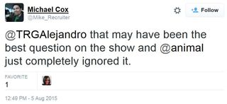 15 08 05 mike cox animal ignored best question on the show