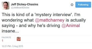 15 08 05 jobboarddoctor this is a mystery interview cant hear matt charney